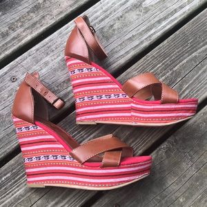 NEW MIA Boho Wedges